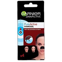 Garnier Pure Active 4 Charcoal Anti Blackhead Nose Strips