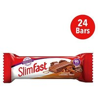 SlimFast Chocolate Caramel Treat Snack Bar - 26g x 24