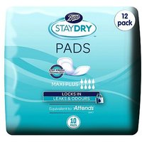 Boots Staydry Maxi Plus Pads - 120 Pads (12 Pack Bundle)