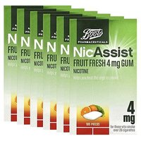 Boots NicAssist Fruit Fresh 4mg Gum - 6 x 105 Pieces Bundle