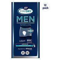 Boots Staydry for Men Light - 168 Shields (12 Pack Bundle)