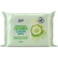 Boots Biodegradable Cucumber Cleansing Wipes 25s
