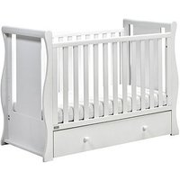 East Coast Nebraska Sleigh Cot2Bed - White