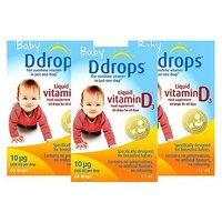 Baby Ddrops Liquid Vitamin D3 x 3 Bundle