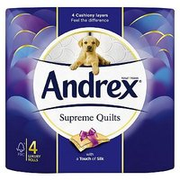 Andrex Supreme Quilts 4 Toilet Rolls