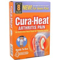 Cura-Heat Arthritis Pain for Knee (4 pads)