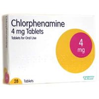 Chlorphenamine 4mg Tablets 28