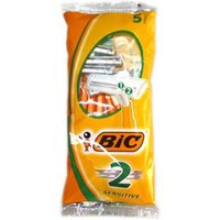 Bic 2 Disposable Classic Razors - Sensitive (5)