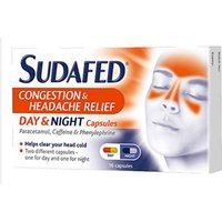 Sudafed Congestion & Headache - Day & Night (16) Capsules