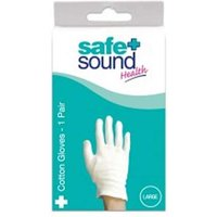 Safe And Sound Health Cotton Gloves Large 1 Pair