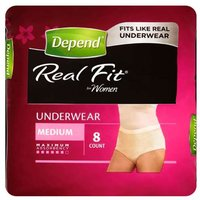 Depend Real Fit Underwear for Women Medium 8 Pants