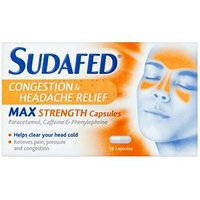 Sudafed Congestion And headache Relief Max Strength Capsules 16
