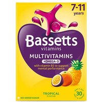 Bassetts Multivitamins 7-11 Years Tropical Plus Omega-3 Soft Chewies 30