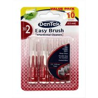 Dentek Easy Brush Interdental Cleaners - Fresh Mint - 10 ISO 2 Brushes