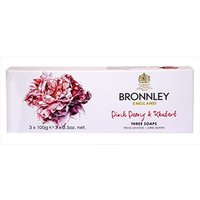 Bronnley Pink Peony and Rhubarb 3 x 100g Soaps