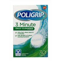 POLYGRIP 3 Minute Daily Cleansers 30 Pack