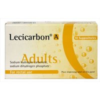 Lecicarbon A 10 suppositories