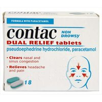 Contac Non-Drowsy Dual Relief Tablets