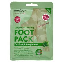 DermaV10 Deep Moisturising Foot Pack Tea Tree and Peppermint