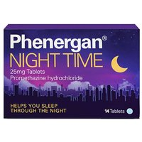 Phenergan Night Time 25mg Tablets