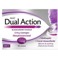 Mac Dual Action Blackcurrant Lozenges 16