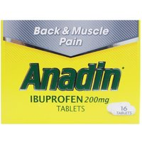 Anadin Back & Muscle Pain Tablets - 16 Tablets